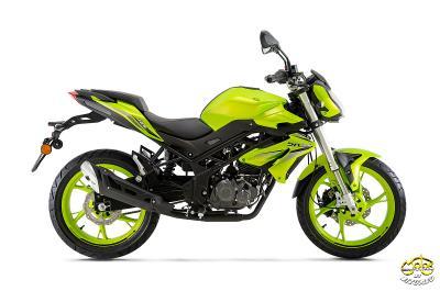 Benelli BN125 motor 2021 modell lime zöld